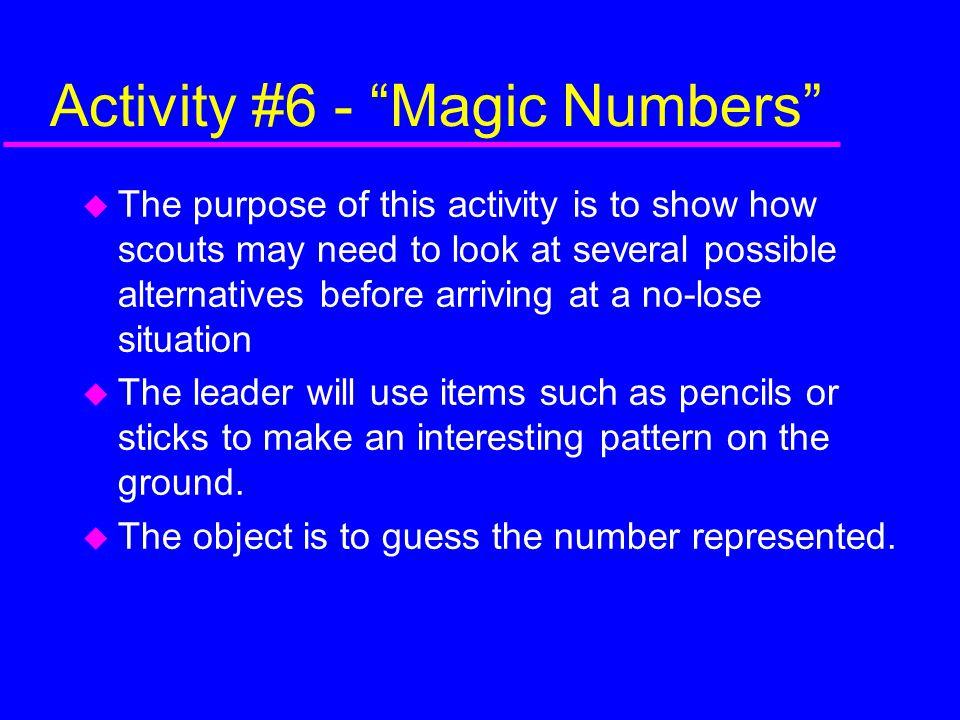 Activity #6 - Magic Numbers