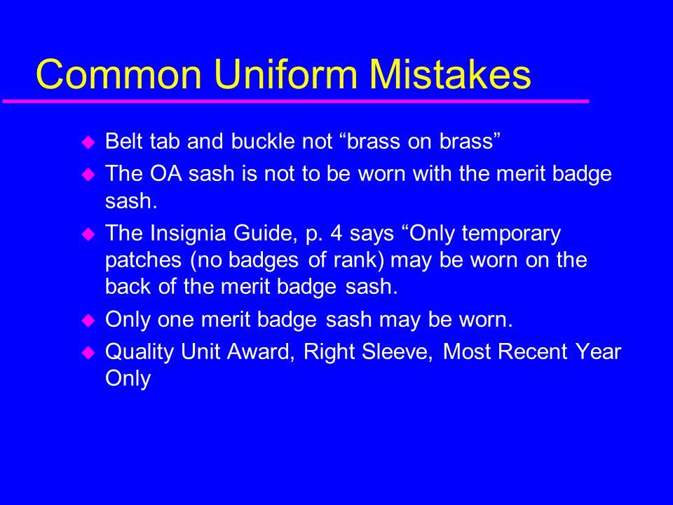 Common Uniform Mistakes