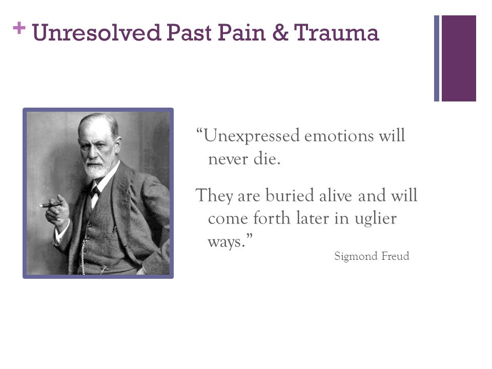 Unresolved Past Pain & Trauma