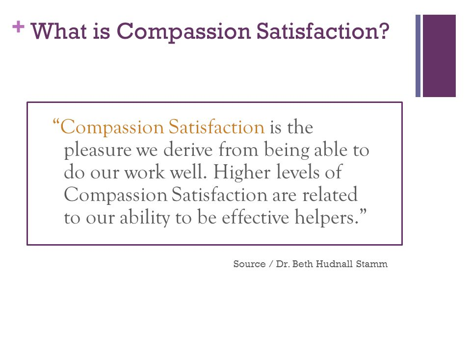 What is Compassion Satisfaction