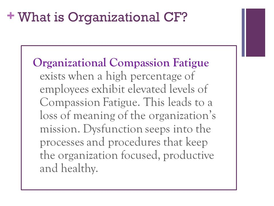What is Organizational CF