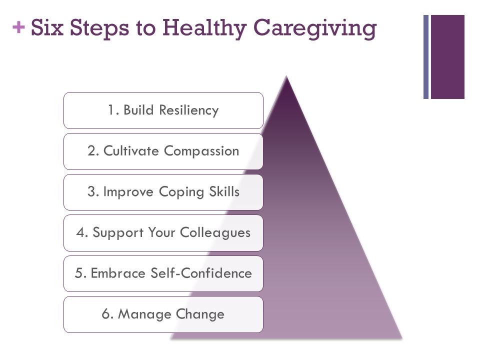 Six Steps to Healthy Caregiving