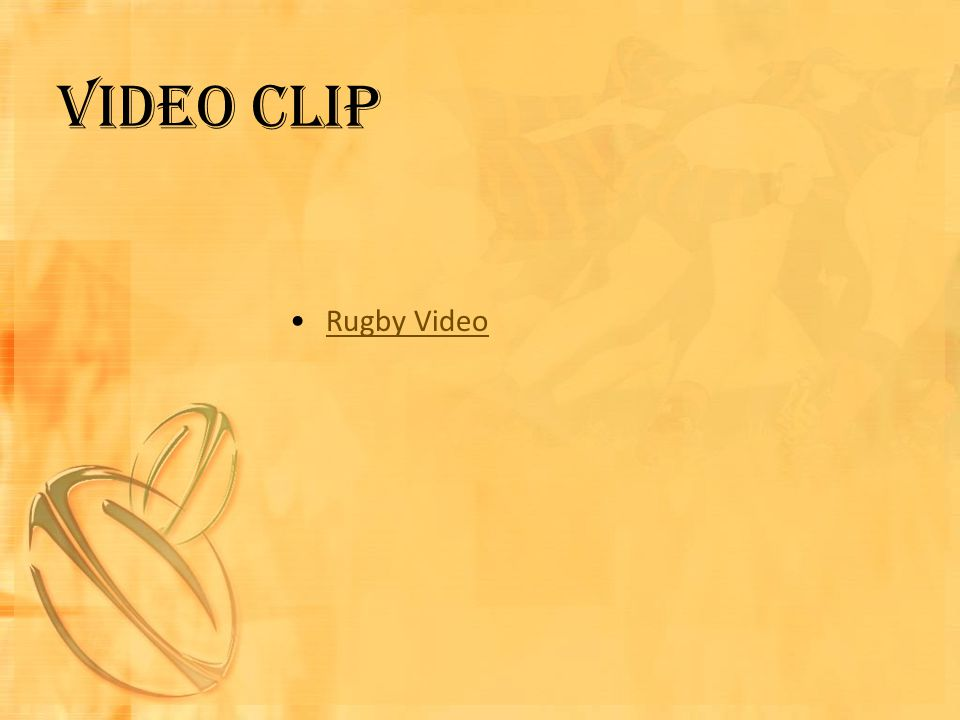 Video clip Rugby Video