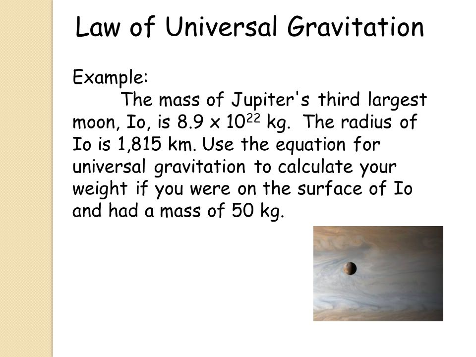Law of Universal Gravitation