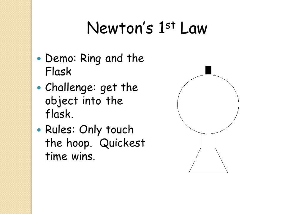 Newton's 1st Law Demo: Ring and the Flask