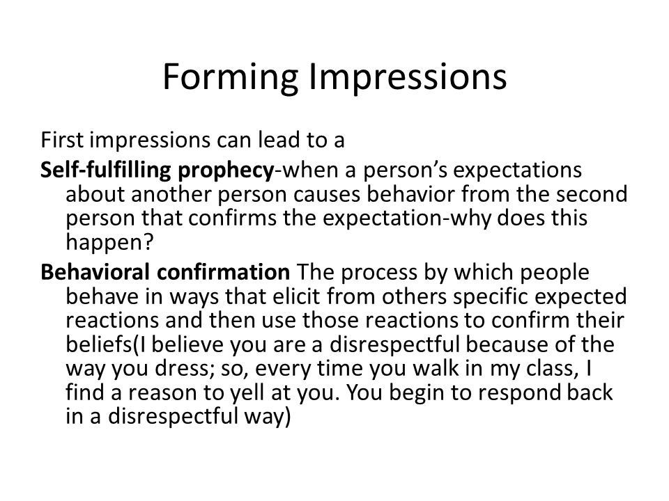 Forming Impressions