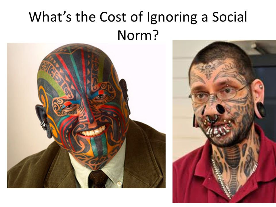 What's the Cost of Ignoring a Social Norm