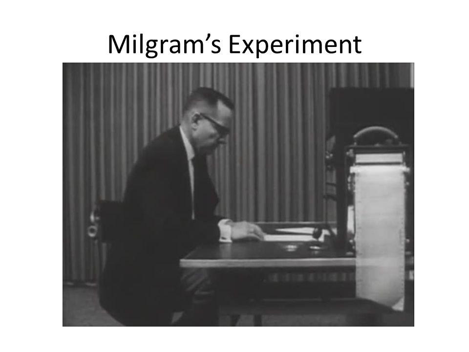 Milgram's Experiment