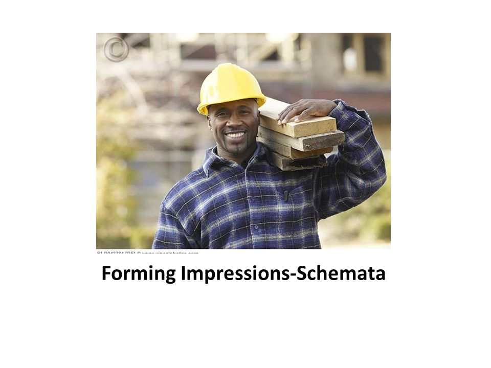 Forming Impressions-Schemata
