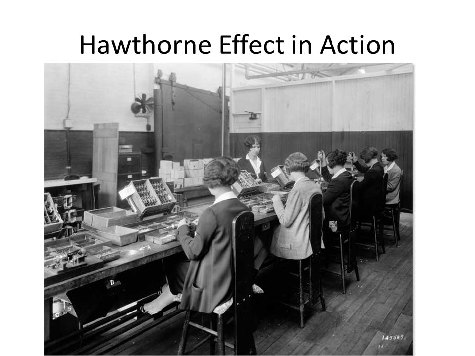 Hawthorne Effect in Action