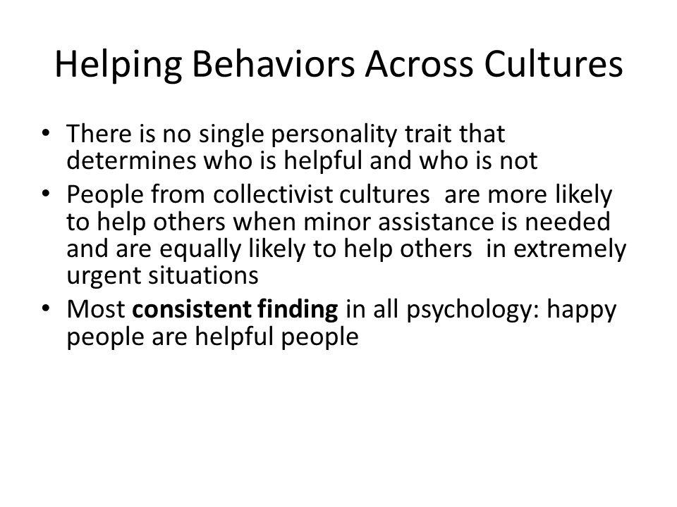 Helping Behaviors Across Cultures