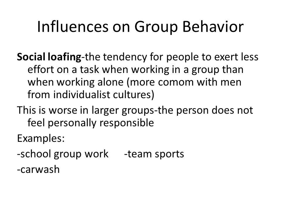 Influences on Group Behavior