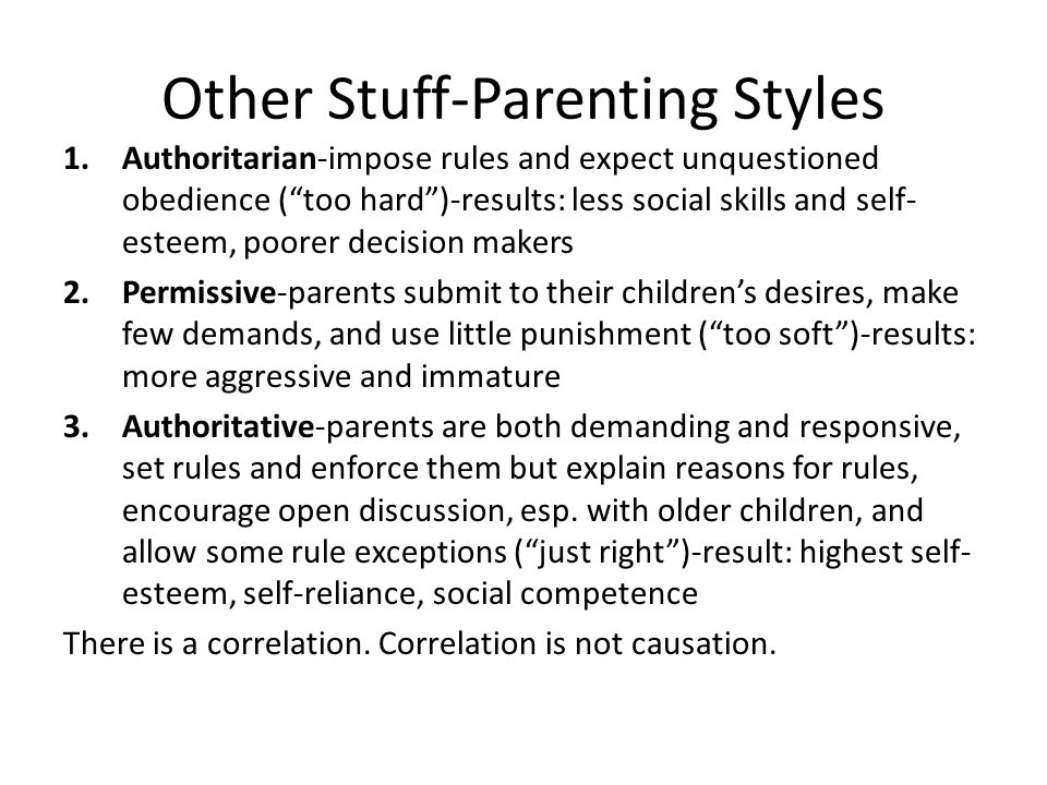 Other Stuff-Parenting Styles