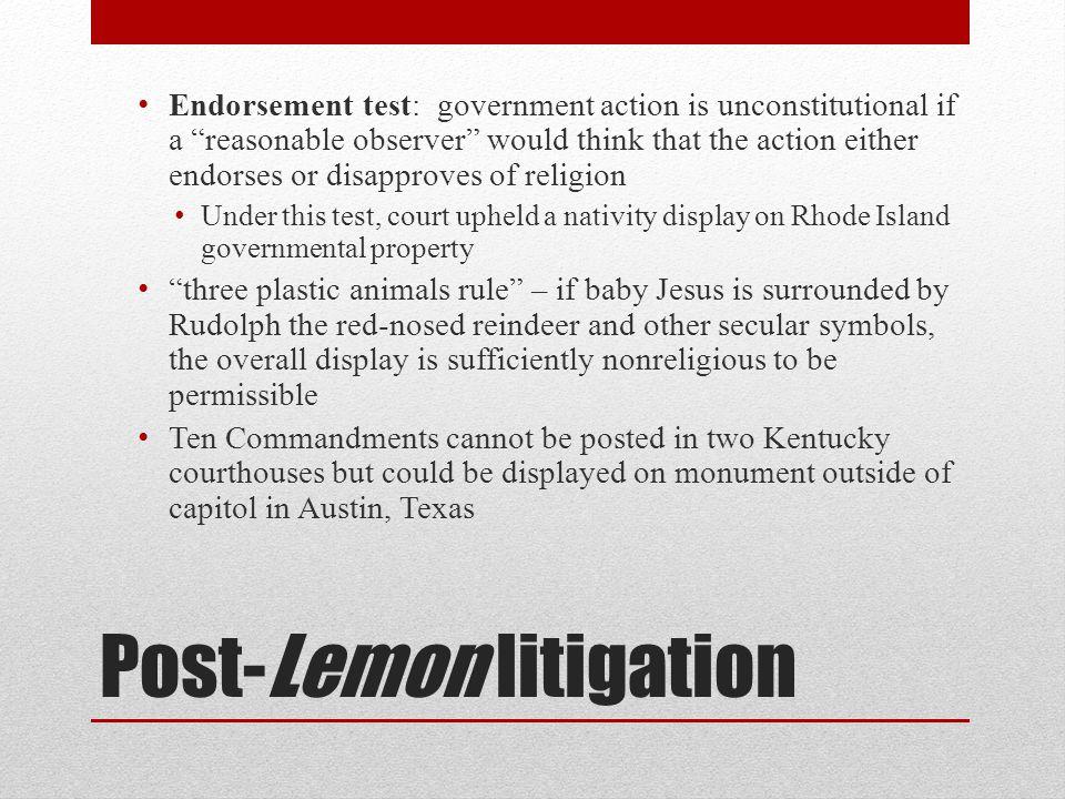 Post-Lemon litigation