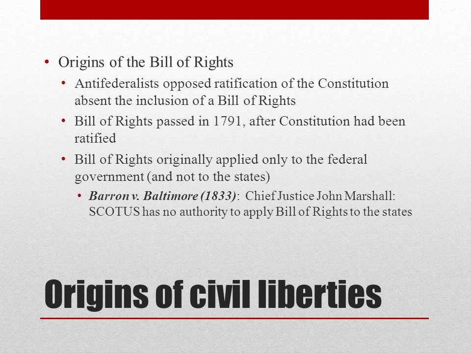 Origins of civil liberties