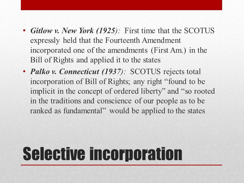 Selective incorporation