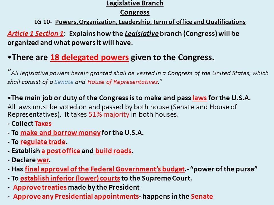 Legislative Branch Congress