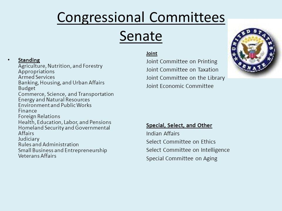 Congressional Committees Senate