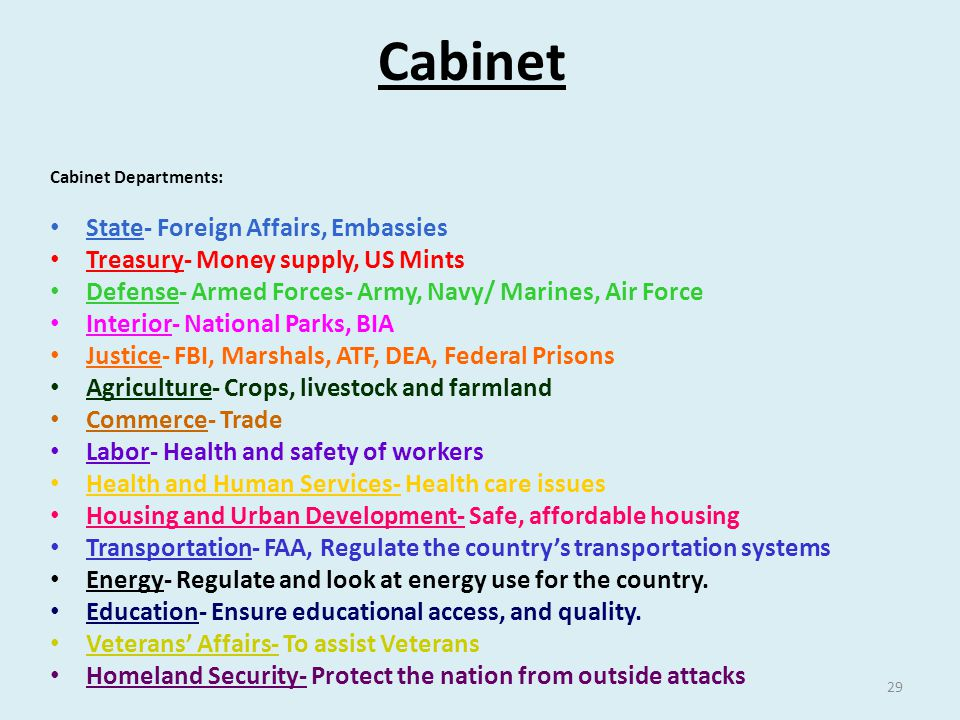 Cabinet State- Foreign Affairs, Embassies