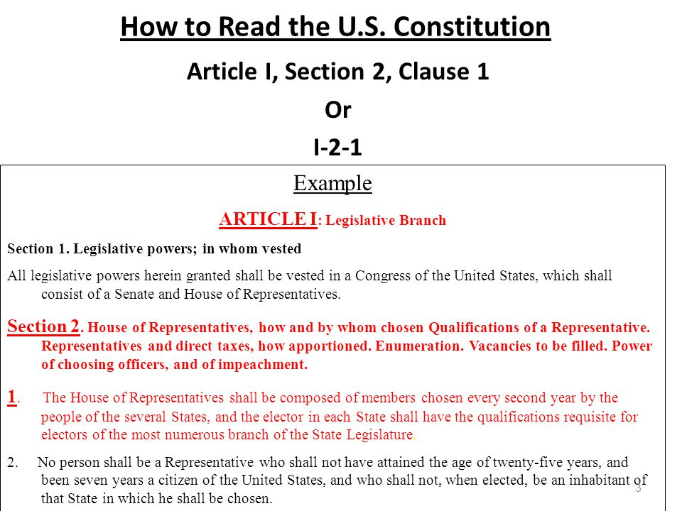 How to Read the U.S. Constitution