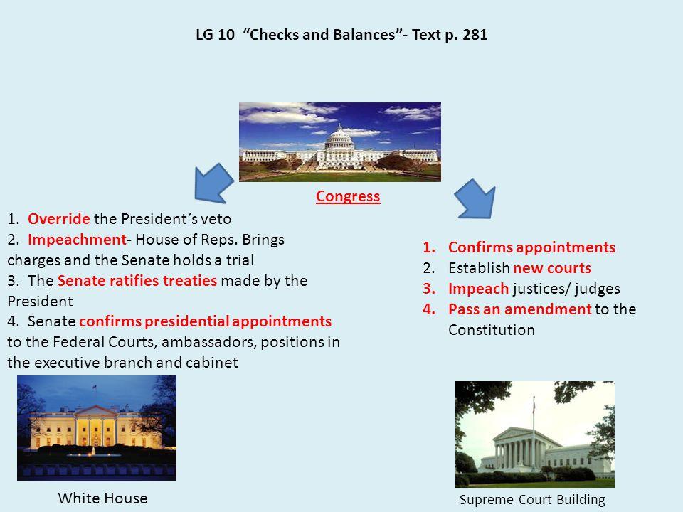LG 10 Checks and Balances - Text p. 281