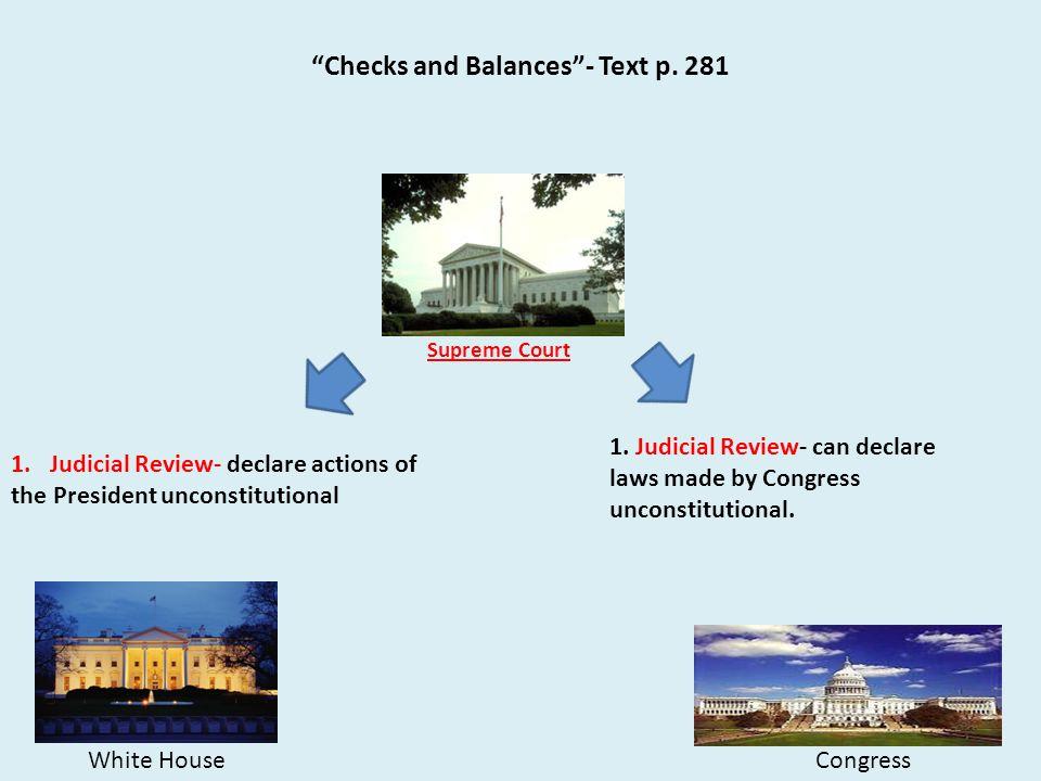 Checks and Balances - Text p. 281