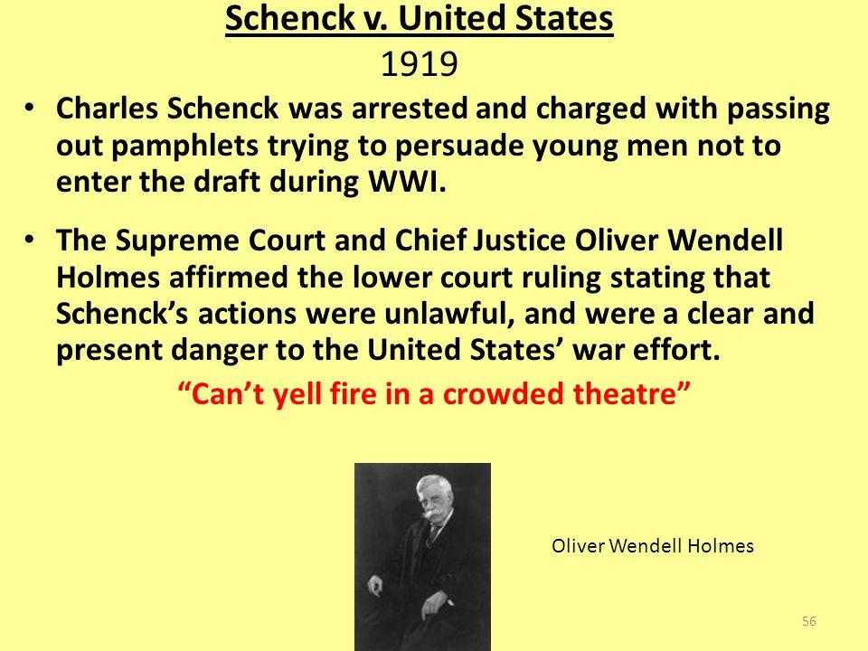 Schenck v. United States 1919