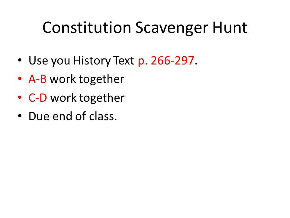 Constitution scavenger hunt answer key ap gov