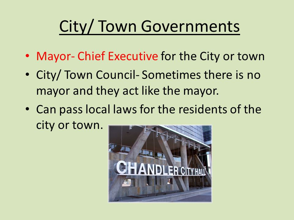 City/ Town Governments