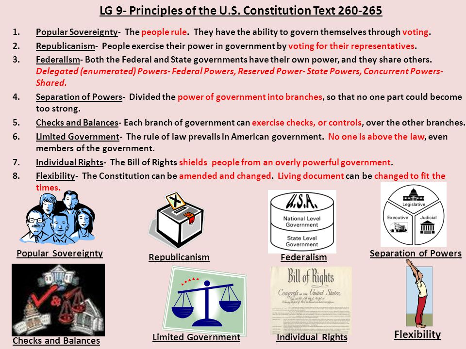 LG 9- Principles of the U.S. Constitution Text 260-265