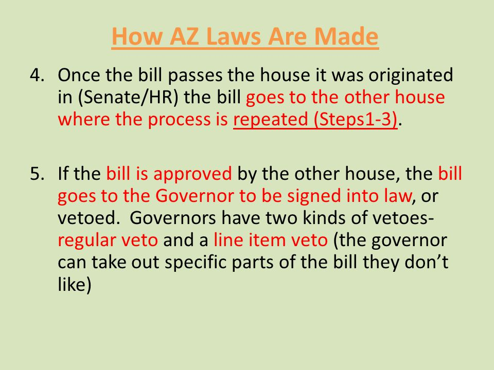 How AZ Laws Are Made