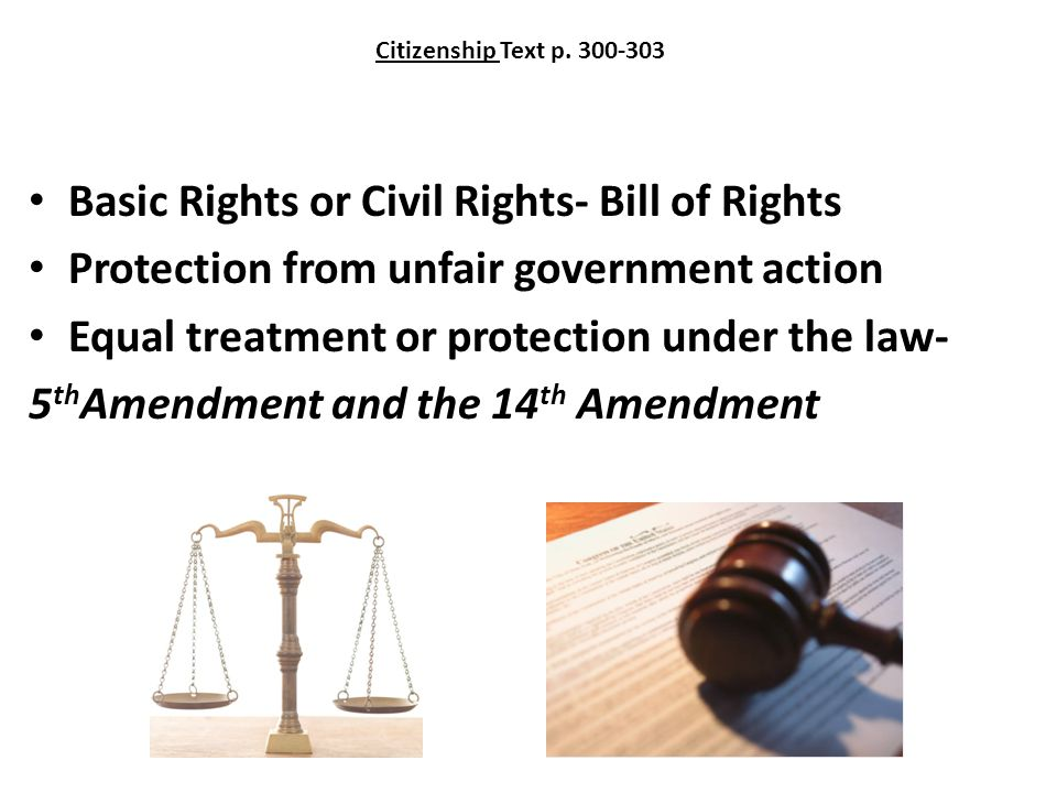 Basic Rights or Civil Rights- Bill of Rights