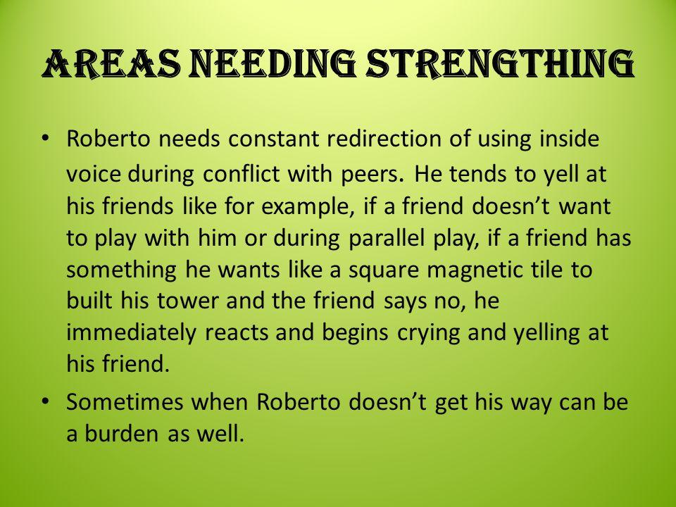 Areas needing strengthing