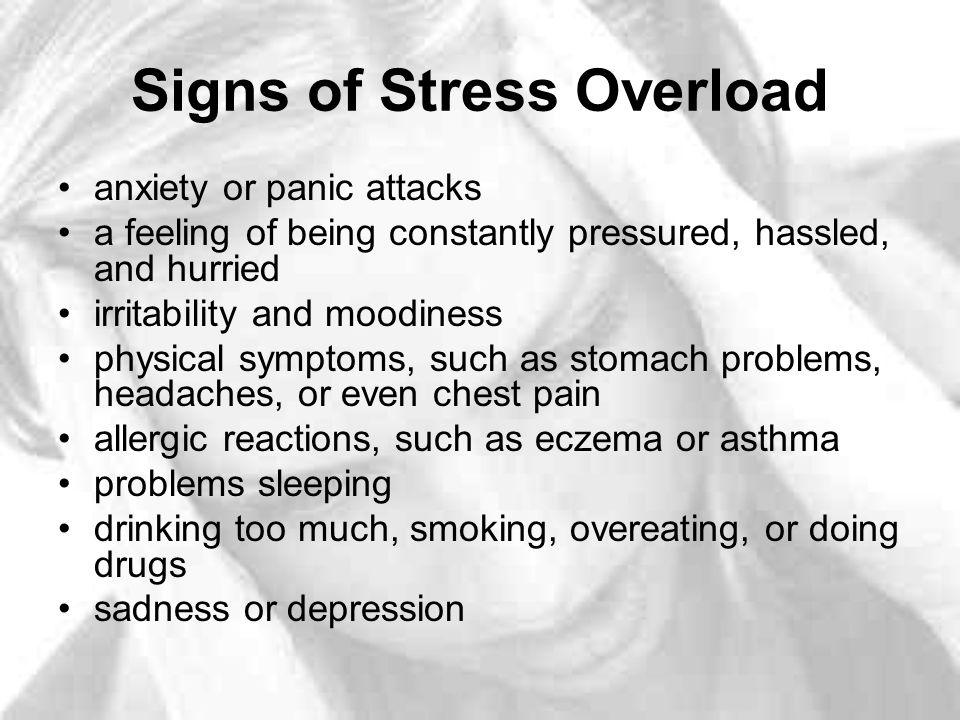Signs of Stress Overload