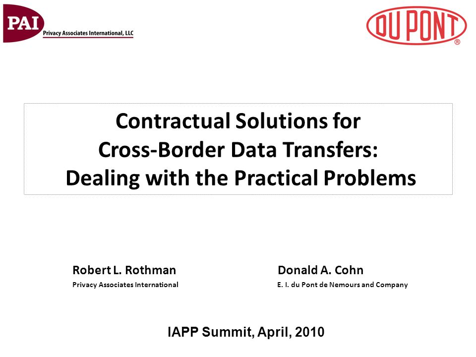 Contractual Solutions for Cross-Border Data Transfers: Dealing with the Practical Problems