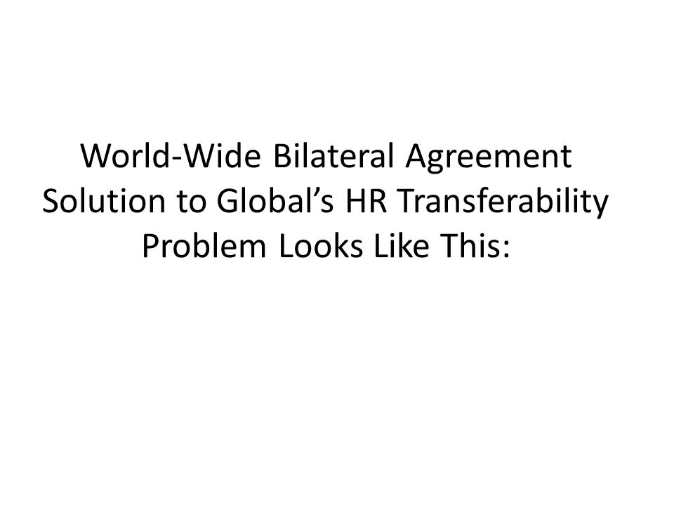 World-Wide Bilateral Agreement Solution to Global's HR Transferability Problem Looks Like This: