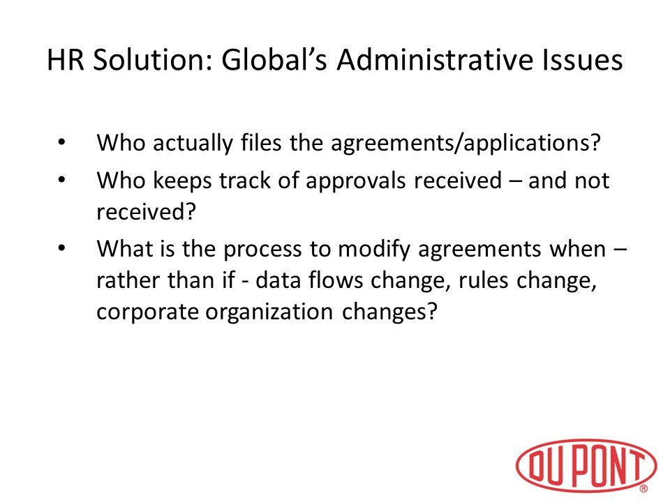 HR Solution: Global's Administrative Issues