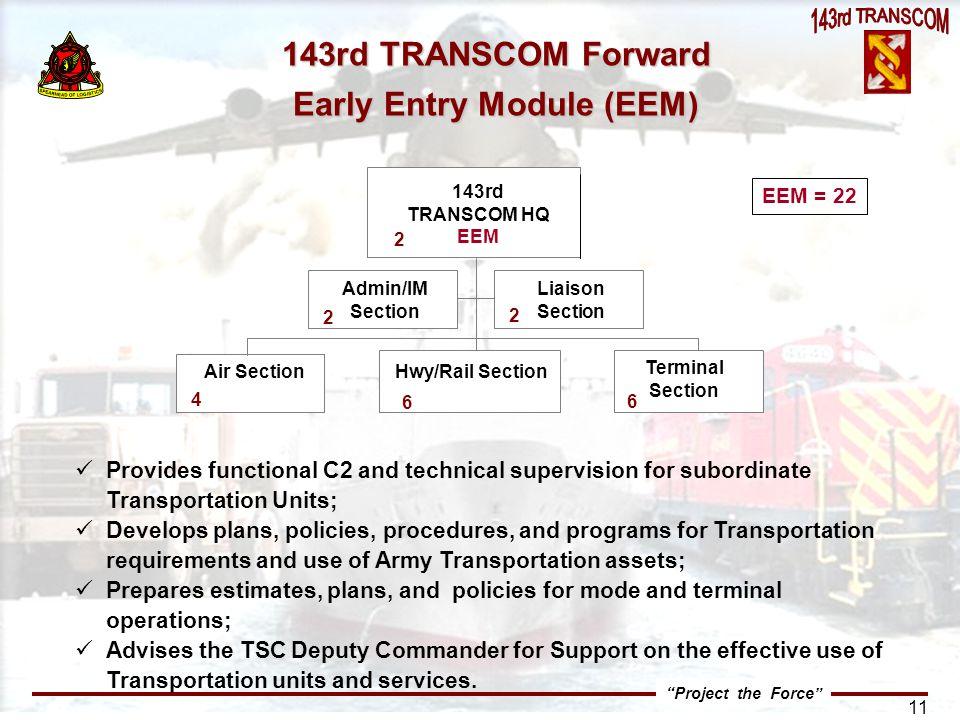 143rd TRANSCOM Forward Early Entry Module (EEM)