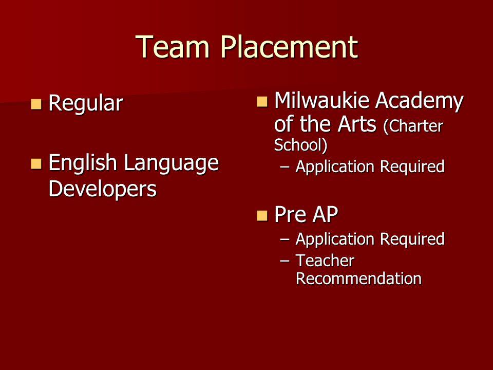 Team Placement Regular English Language Developers