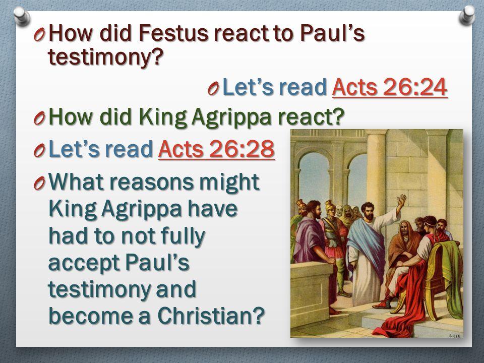 How did Festus react to Paul's testimony