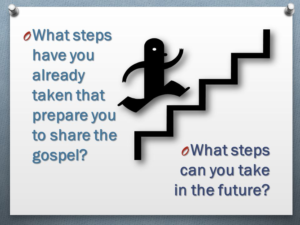What steps have you already taken that prepare you to share the gospel