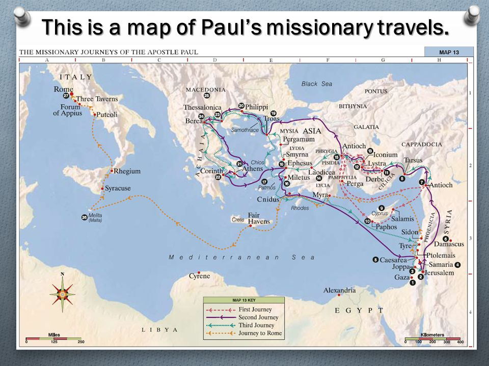 This is a map of Paul's missionary travels.