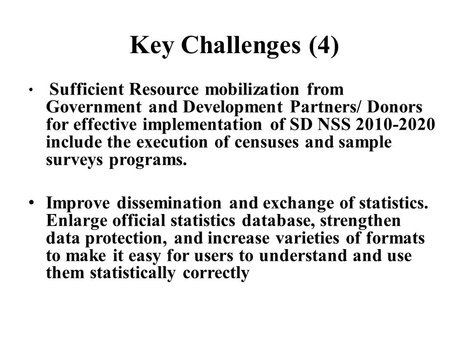 Key Challenges (4)
