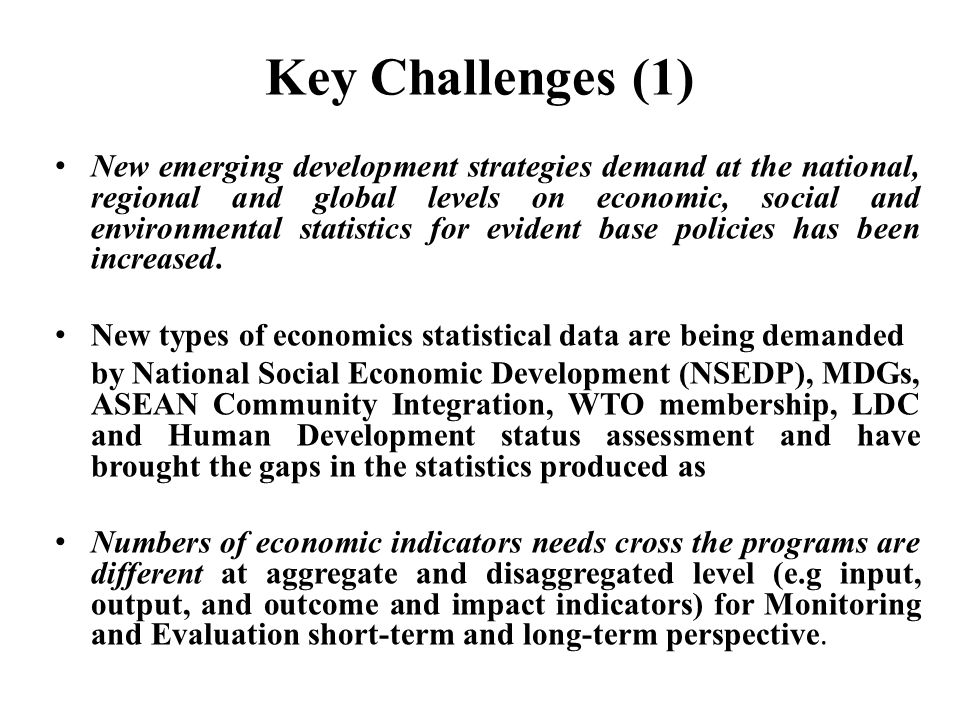 Key Challenges (1)