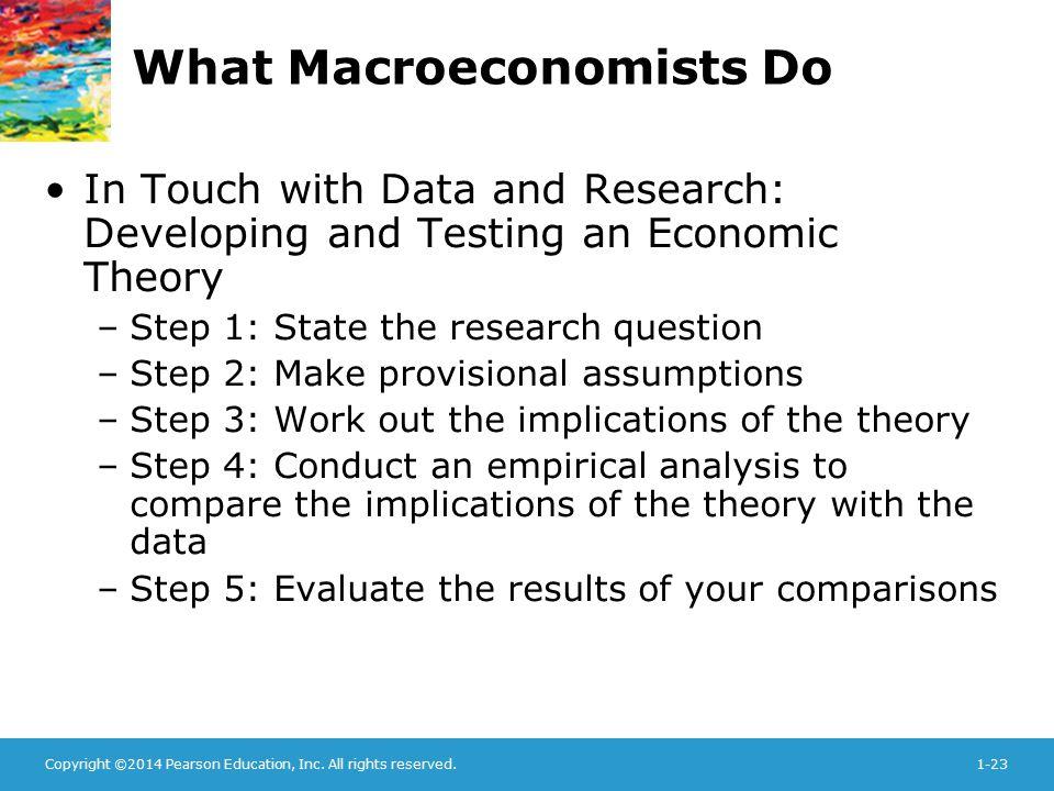 What Macroeconomists Do