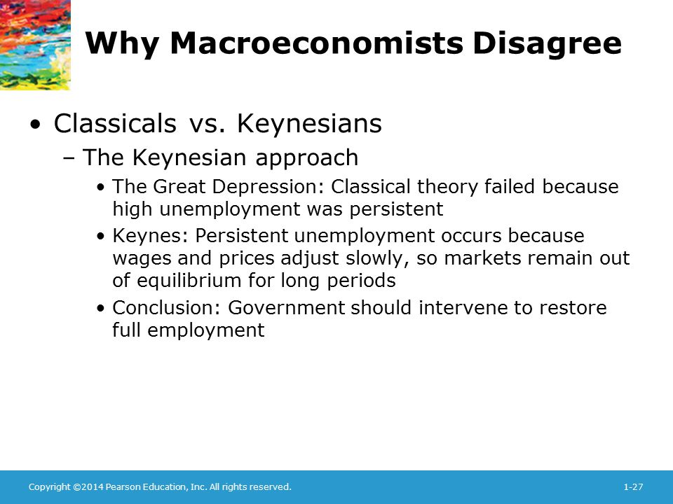Why Macroeconomists Disagree