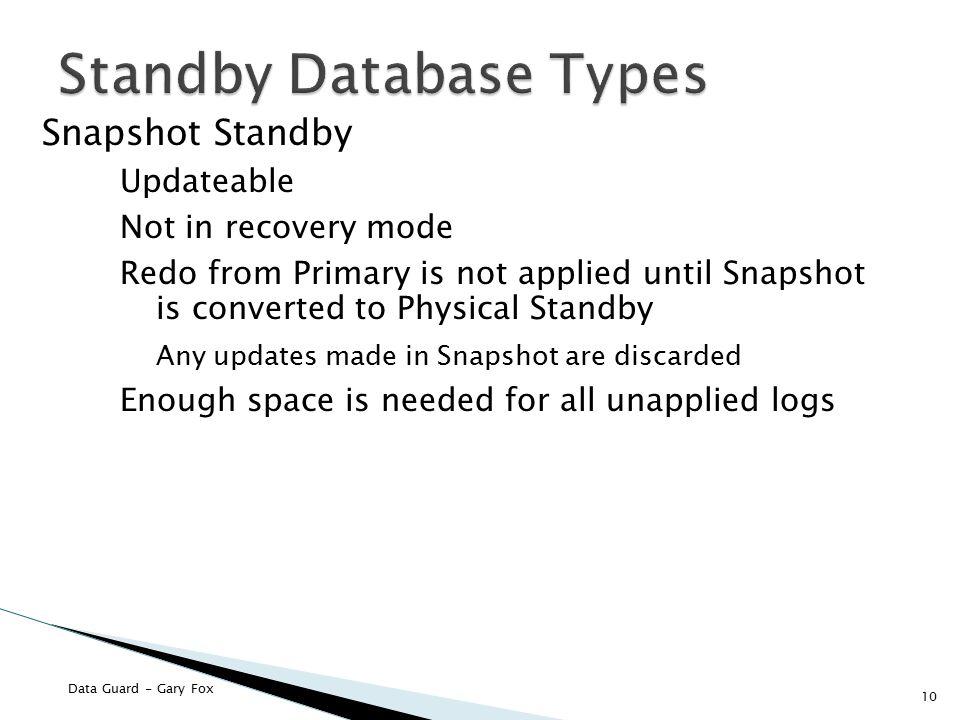 Standby Database Types