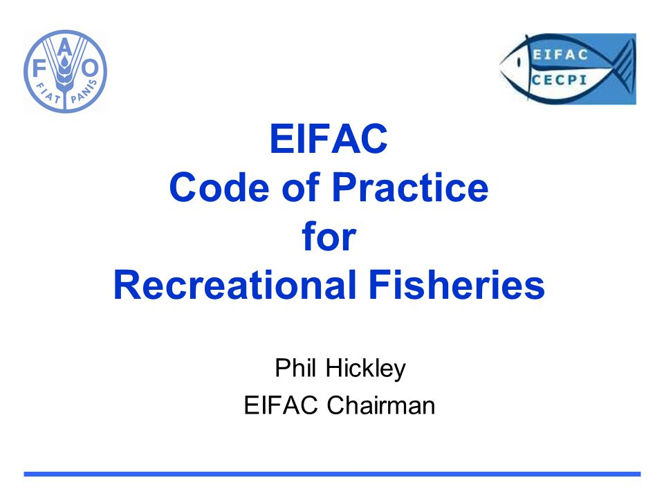 EIFAC Code of Practice for Recreational Fisheries