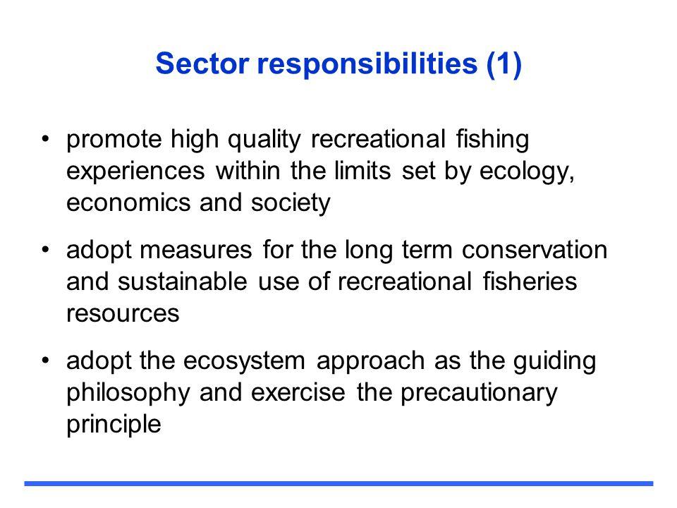Sector responsibilities (1)