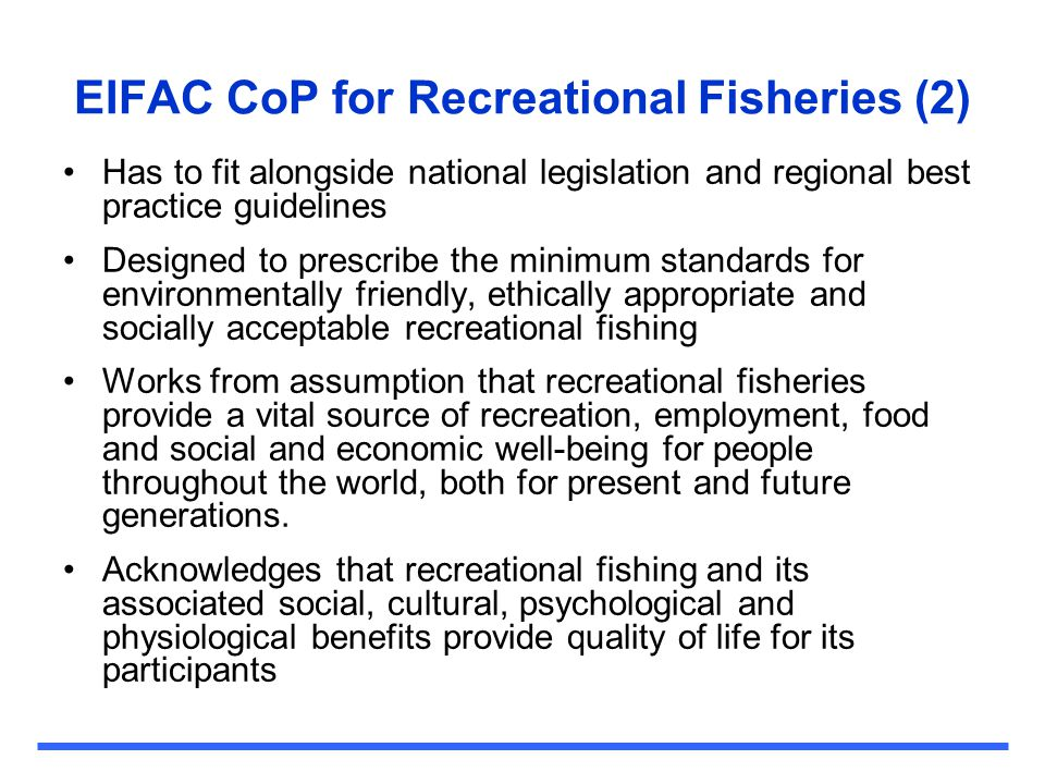 EIFAC CoP for Recreational Fisheries (2)